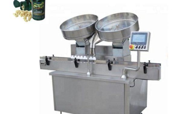 Automaattiset ruostumattomasta teräksestä valmistetut pilleri kapselitabletit laskevat täyttökoneen
