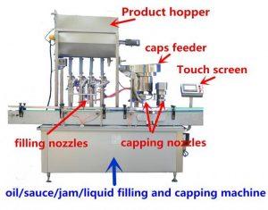 Erittäin tarkka hunajan täyttökone 500 ml: lle