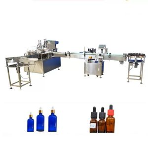 PLC Control Essential Oil pullojen täyttölaite